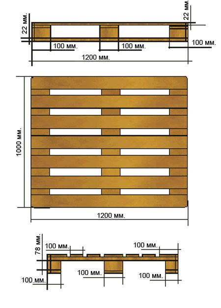 The pallet facilitated 1200х1000