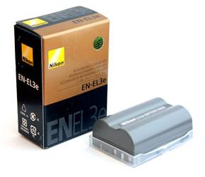 Buy The Nikon EN-EL3e accumulator for the camera D300, D50, D90, D80, D70s, D700 other batteries for cameras.