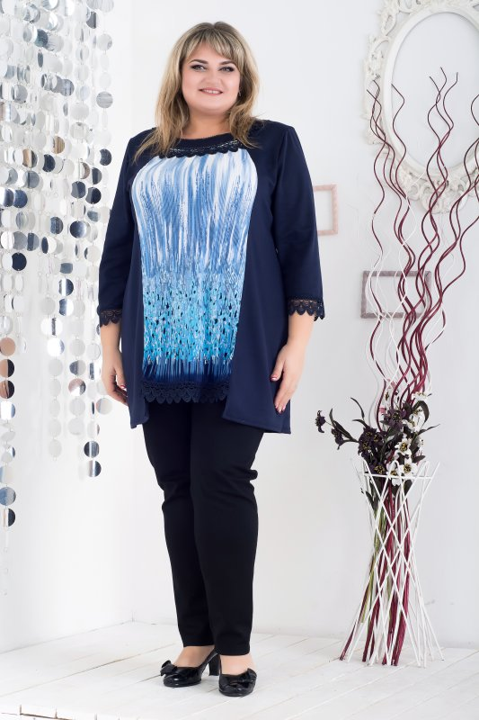 Красивая модная туника Аэлита арт. 1001А-1