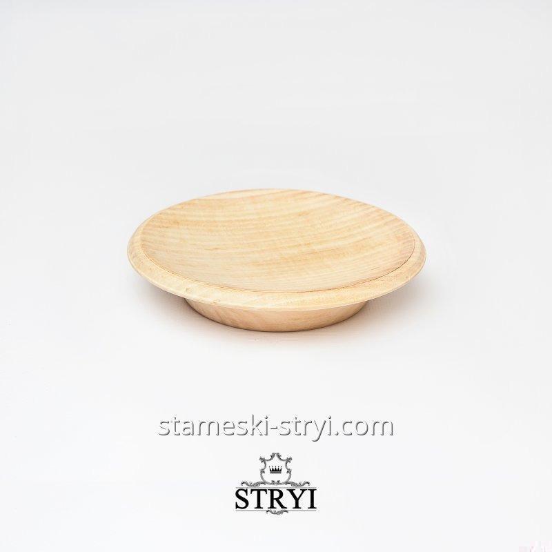 Деревянная заготовка, тарелка, размер - 170 мм, дерево липа, для резьбы от STRYI, арт.ЛТ170