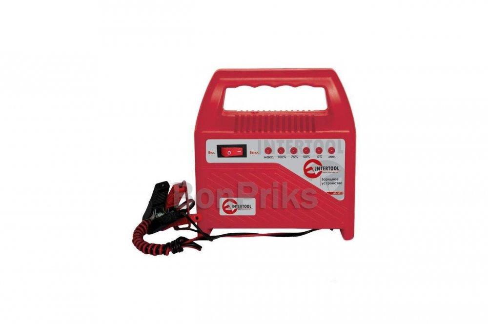 Купить Зарядное устройство Intertool - 6 - 12 В, 6 А, со светодиодной индикацией