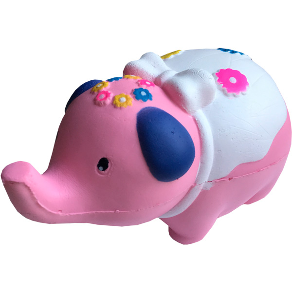 Купить Мягкая игрушка антистресс Сквиши Squishy Слон Розовый