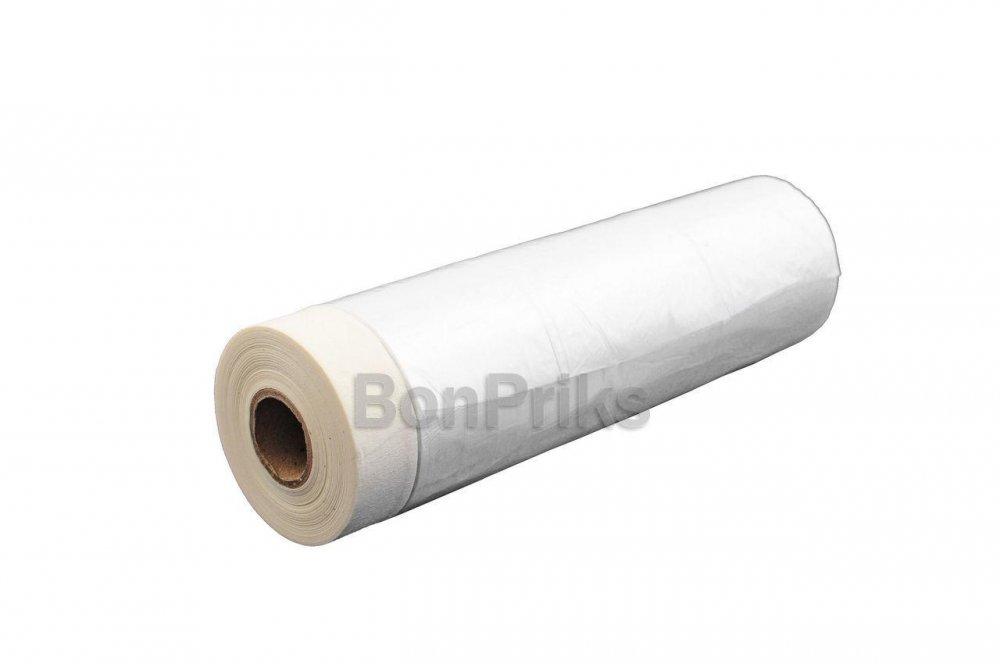 Купить Пленка защитная с малярной лентой Mastertool - 0,55 х 20 м