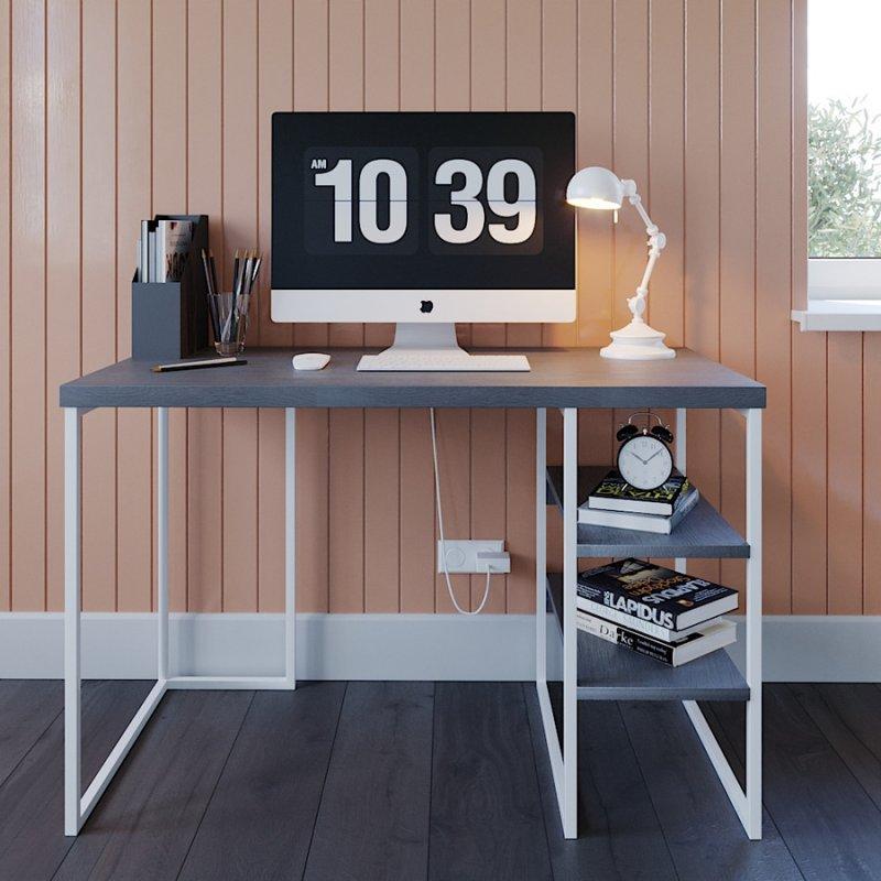 Письменный стол Fenster Вега 3 Белый 75,5x120x60 столешница Ильм