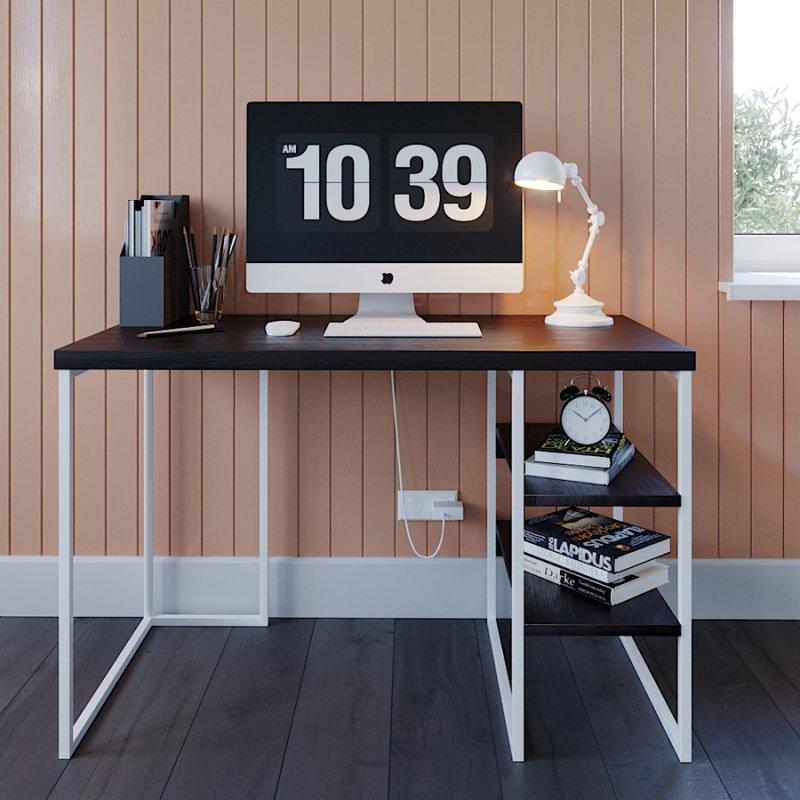 Офисный стол Fenster Вега 3 Белый 75,5x120x60 столешница Венге