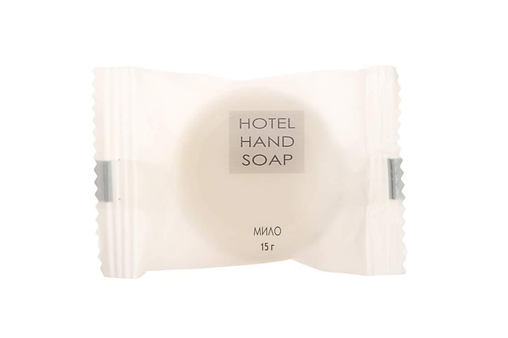 Мыло 15 г круглое в упаковке флоупак Hotel