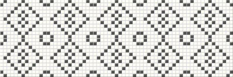Декор Opoczno Pret-A-Porter Black/White Mozaika 25 Х 75