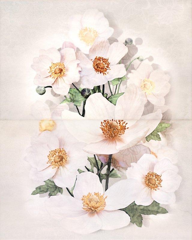 Декор Cersanit Rensoria Панно Квітка