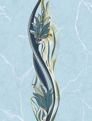 Декор GOLDEN TILE Александрия голубой декор В13361 (214038)