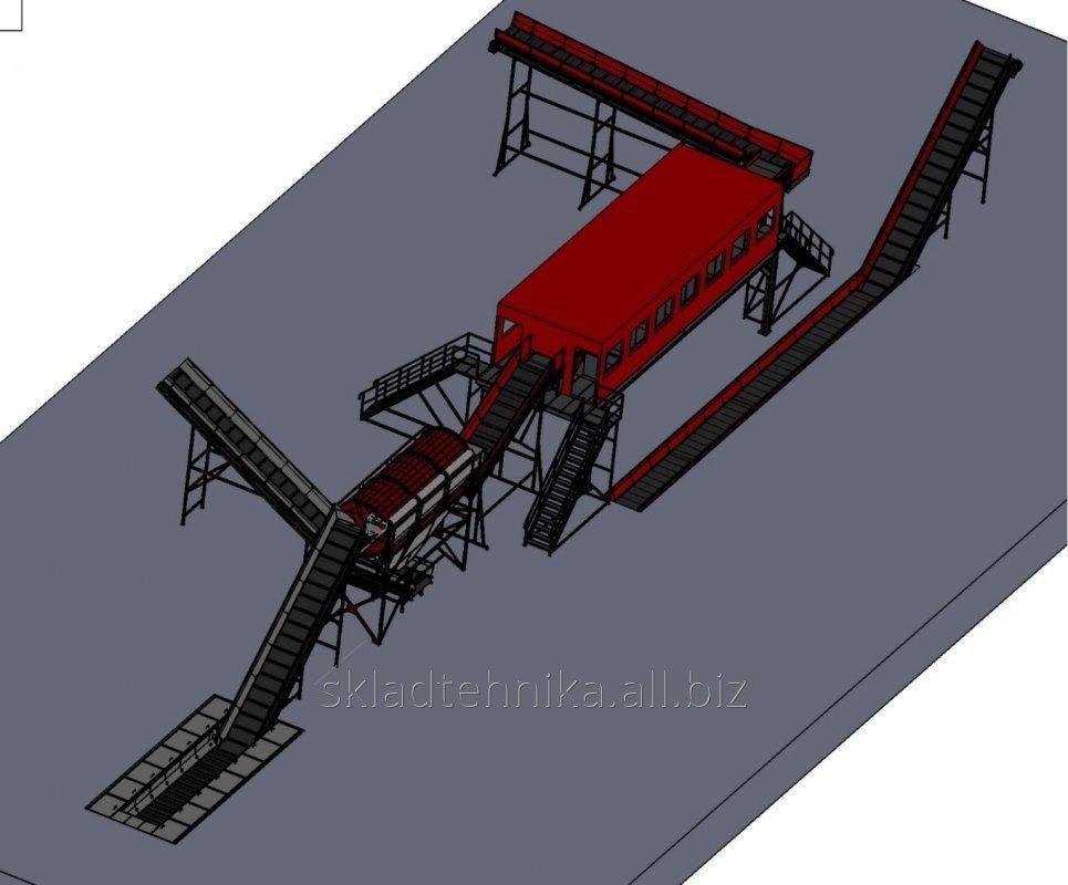 Купить Линия для сортировки ТБО 50000 тонн в год