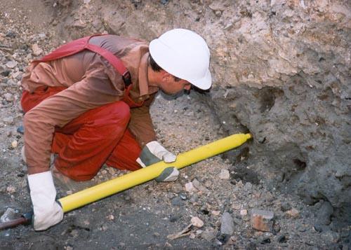 Оборудование нестандартное буровое для прохождения в уплотняемых грунтах сквозных и глухих горизонтальных, наклонных и вертикальных скважин малого диаметра 55 мм.