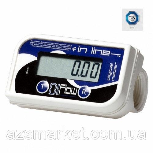 IN LINE - ПИЩЕВОЙ - счетчик расхода топлива для ДТ от 10-150 л/мин