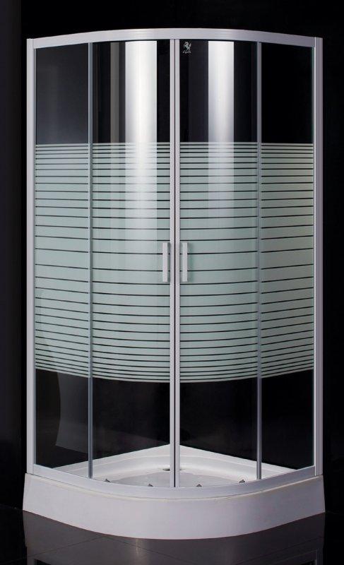 Купить Душевая кабина на мелком поддоне, профиль белый, стекло EGER TISZA Frizеk (AMUR) (599-021/1)