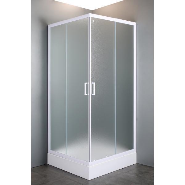 """Купить VI`Z квадратная душевая кабина 80~90*185 см, регулируемый белый профиль, стекло """"Zuzmara"""" (стекла+двери)"""
