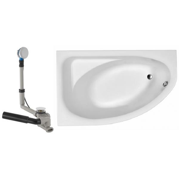 Купить Ванна KOLO Spring 160*100 L с сифоном Geberit 150.520.21.1, с ножками (XWA306100G)