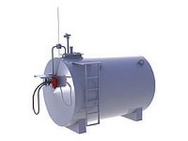 Купить Мобильный топливный модуль, цилиндрический резервуар на 5 000 литров (Мини АЗС)