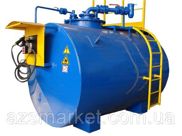 Купить Мобильный топливный модуль, цилиндрический резервуар на 10 000 литров (Мини АЗС)