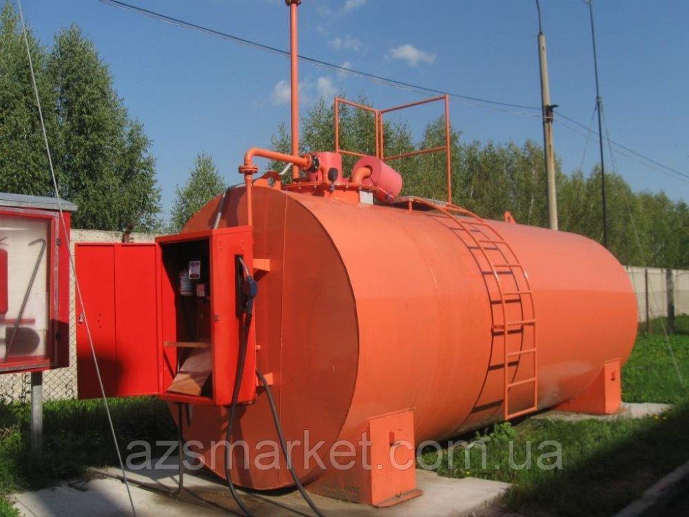 Мобильный топливный модуль, цилиндрический резервуар на 20 000 литров (Мини АЗС)