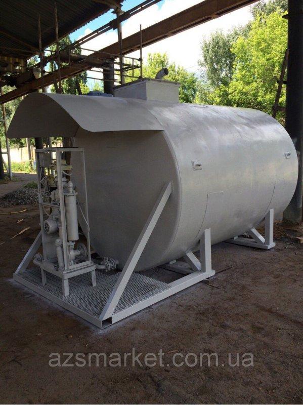 Купить БУ мобильный топливный модуль, цилиндрический резервуар на 10 000 литров (Мини АЗС) после капитально