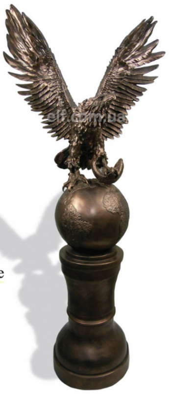Купить Фигура Орел на земном шаре, набивная, высота 106 смКолонна , высота 60 см