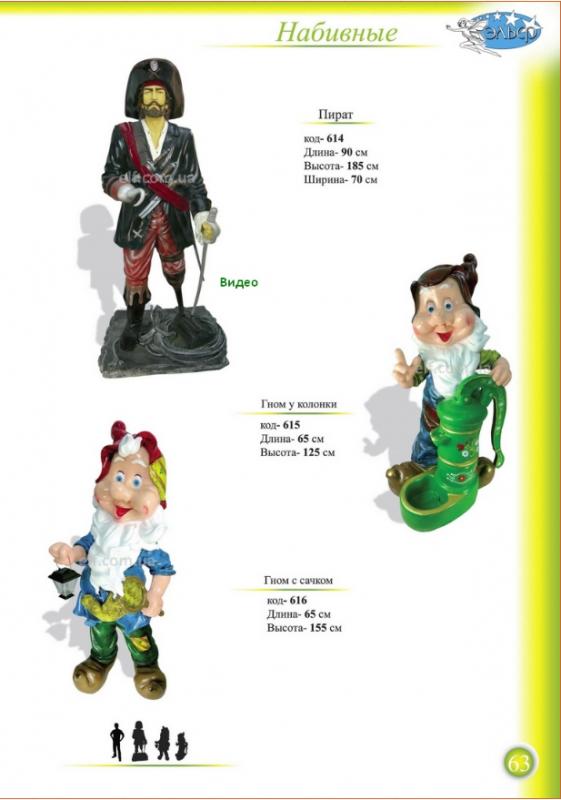 Купить Фигуры набивные Пират, Гномы