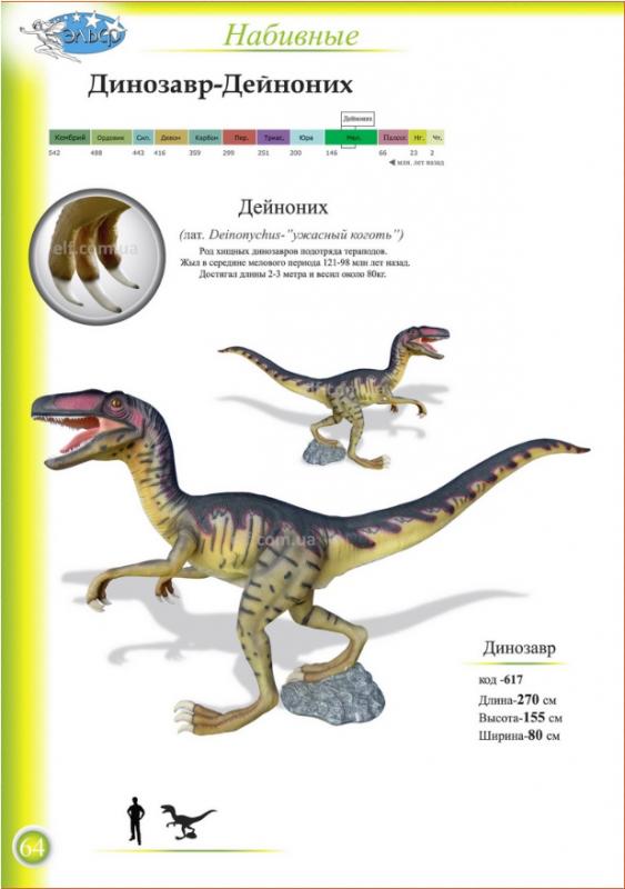 Купить Фигуры набивные Динозавр