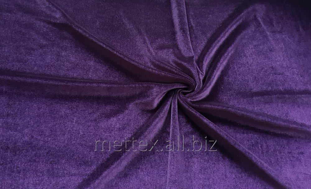 Купить  Гладкий стрейч бархат № 9 цвет - фиолетовый