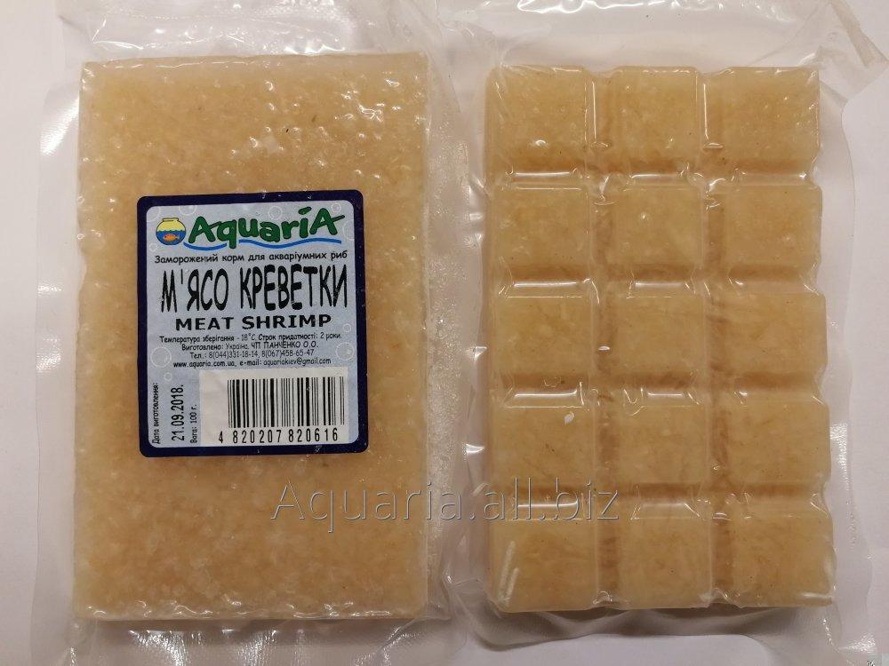 Купить [Copy] Замороженный корм для рыб Мясо Креветки. Вакуум упаковка.