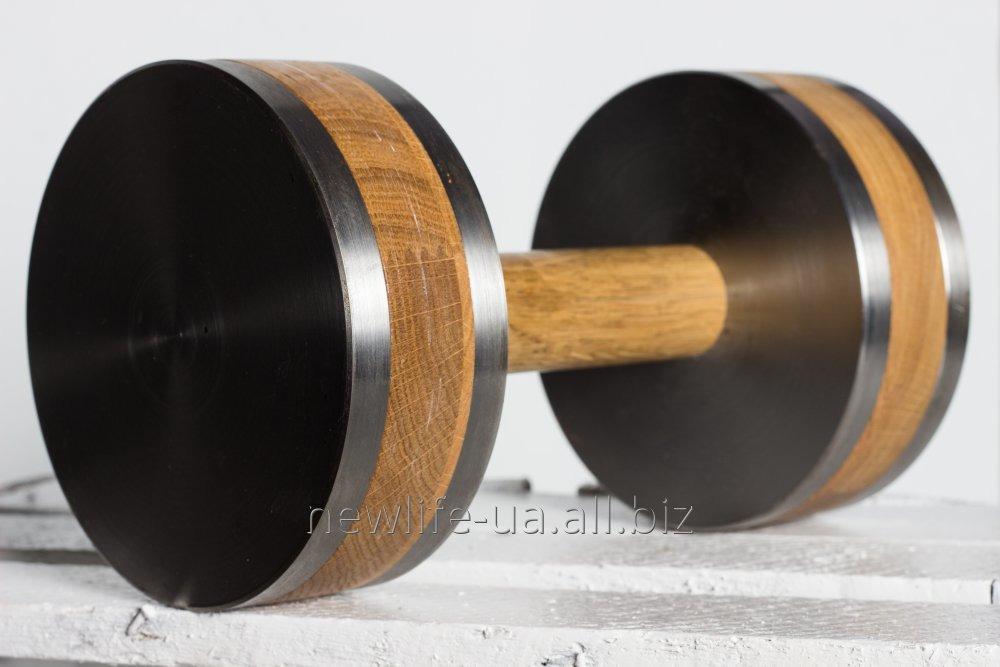 Купить Гантели разборные с деревянными вставками