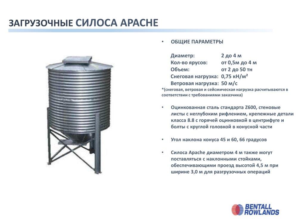 Купить Силос хоппер Apache (оперативный бункер) с конусным дном для зерна Bentall Rowlands