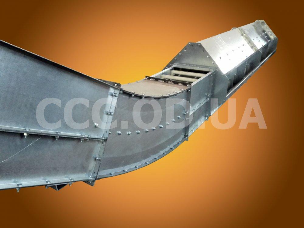 """КСУ-500, Q=500 т\ч, Конвейер цепной скребковый полого-наклонный, редлер типа """"гусиная шея"""""""