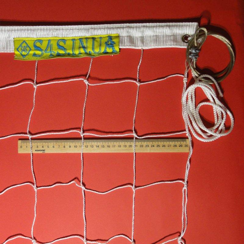Купить Сетка волейбольная «ПРЕМИУМ 10» с тросом белая