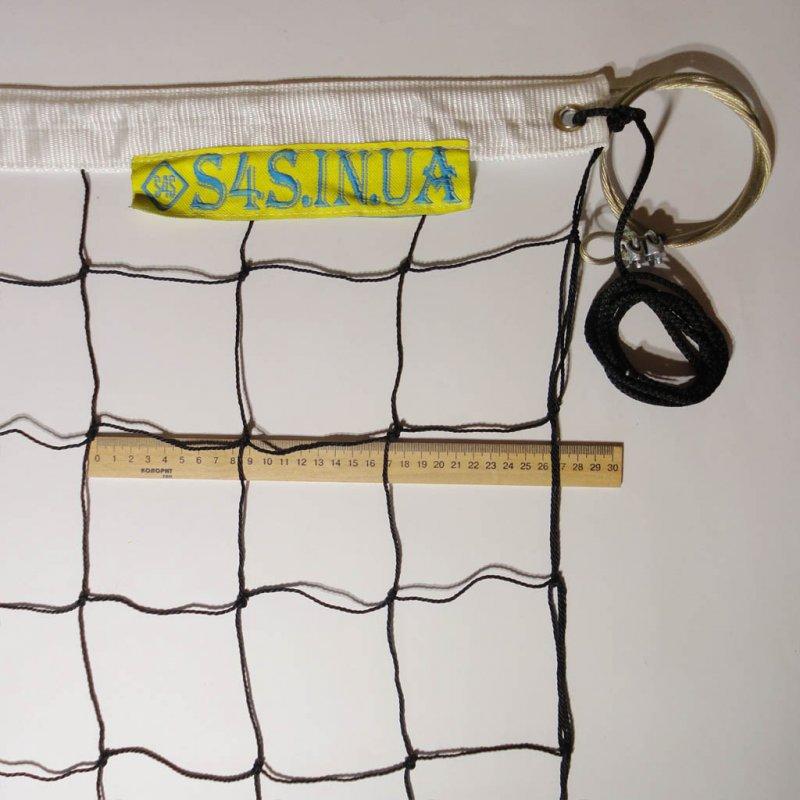 Купить Сетка волейбольная «ПРЕМИУМ 10» с тросом черно-белая