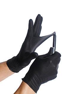 Купить Перчатки нитриловые неопудренные чёрные, NITRYLEX