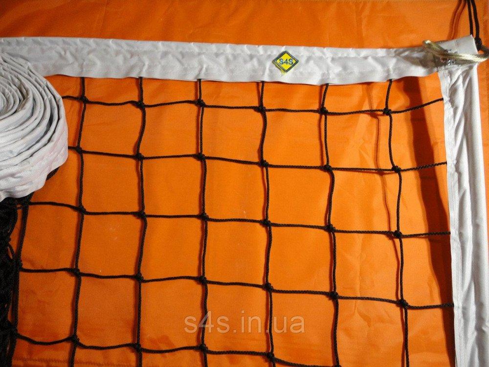 Купить Сетка для классического волейбола «ЭКСКЛЮЗИВ» с тросом черно-белая