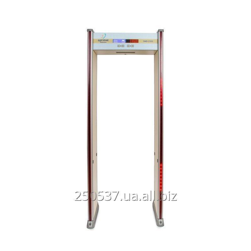 Купить OMD-2103 - стационарный проходной арочный металлодетектор для использования внутри помещений. с LCD-дисплеем и четырех боковых индикаторных LED-панелей.