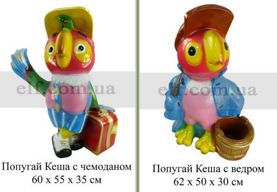 Купить Декоративная скульптура Попугай Кеша с чемоданом, Козел с топором
