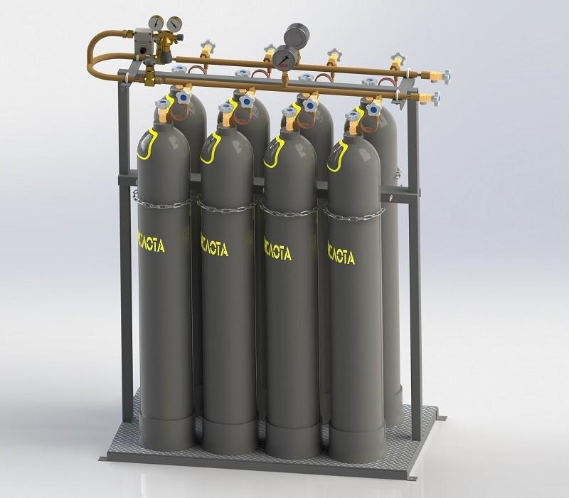 Купить Рампы для технических газов контейнерного исполнения