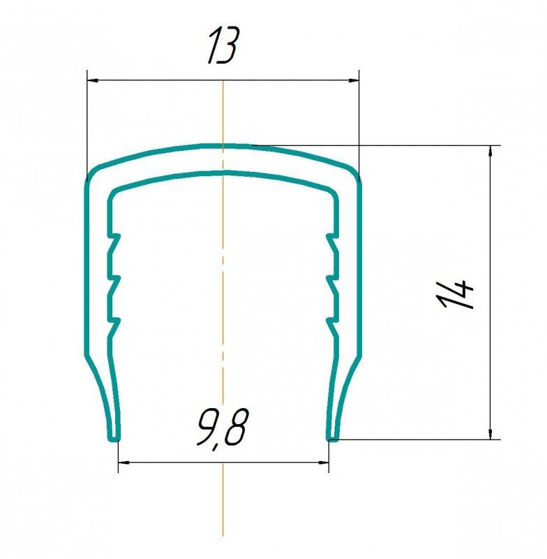 Купить Профиль торцевой 10мм