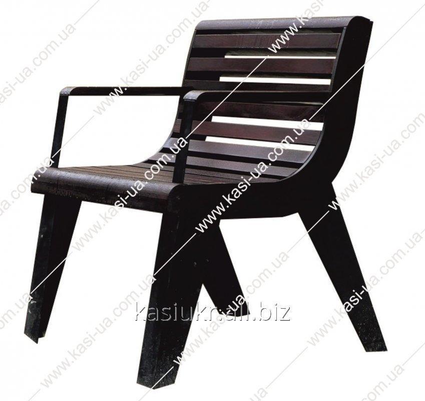 Лавка садово-парковая (стул уличный) со спинкой URBAN 6