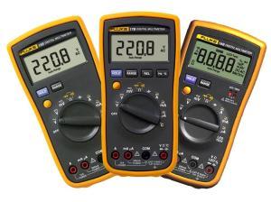 Купить Цифровые мультиметры Fluke 15B, Fluke 17B и Fluke 18B