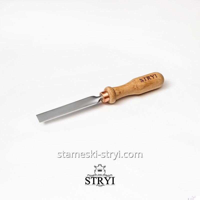 Стамеска плоская STRYI для резьбы по дереву. Ширина: 10 мм, арт.00110