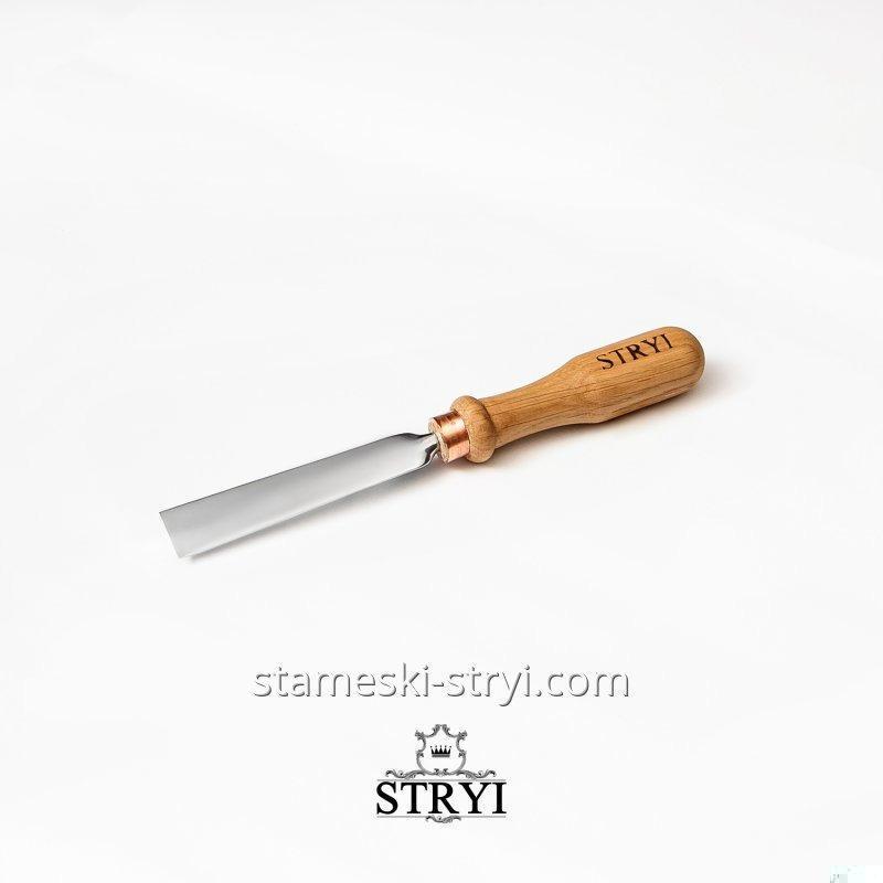 Стамеска плоская STRYI для резьбы по дереву. Ширина: 20 мм, арт.100120