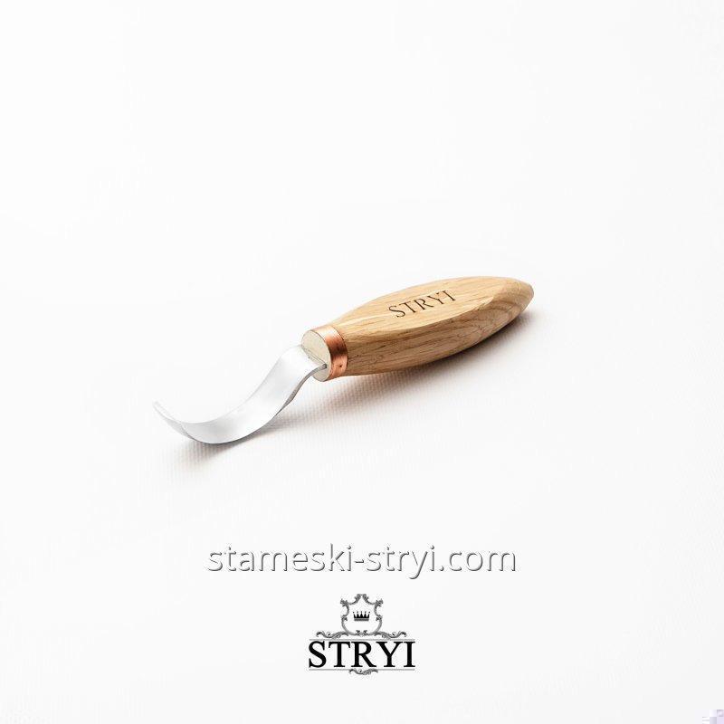 Стамеска ложкорез STRYI для резьбы по дереву, отлогий 50 мм. Для левой руки.арт.50051