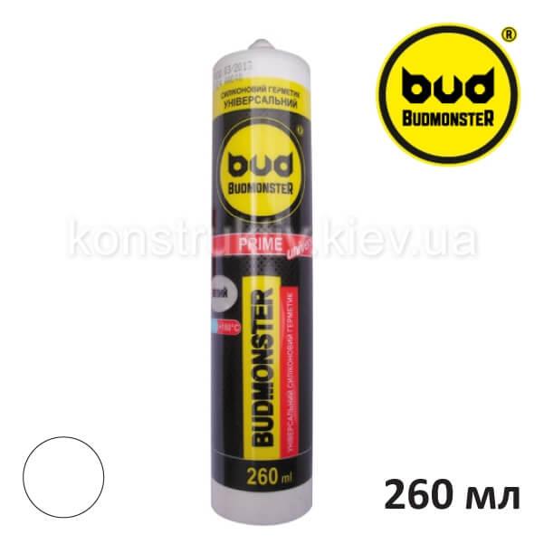 Герметик силиконовый универсальный Budmonster Prime, 260 мл (прозрачный)