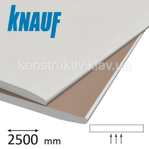 Гипсокартон потолочный Кнауф (Knauf) ГКП 9,5*2500*1200