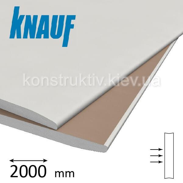 Гипсокартон стеновой Кнауф (Knauf) ГКП 12,5*2000*1200