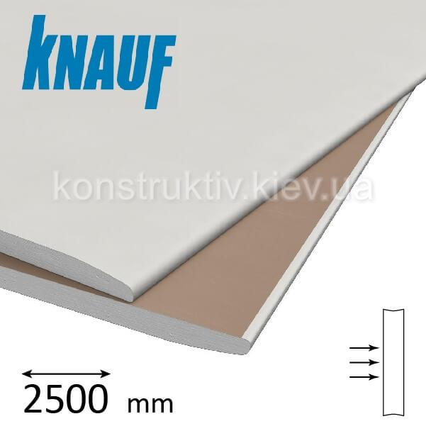 Гипсокартон стеновой Кнауф (Knauf) ГКП 12,5*2500*1200