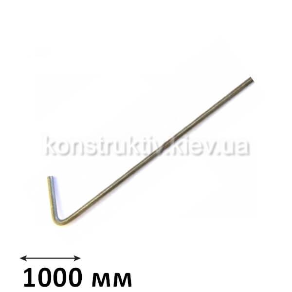 ГК Спица крючок 1000 мм., КП (100 шт.) ЦИНК