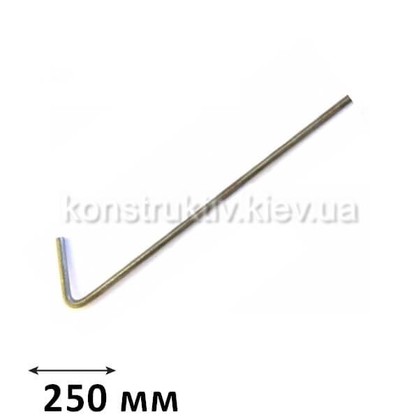 ГК Спица крючок 250 мм., КП (100шт.) ЦИНК